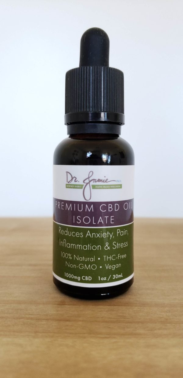 Premium CBD Isolate Oil, 1000mg high potency 1oz